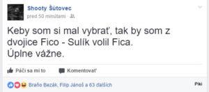 Shooty volí Fica